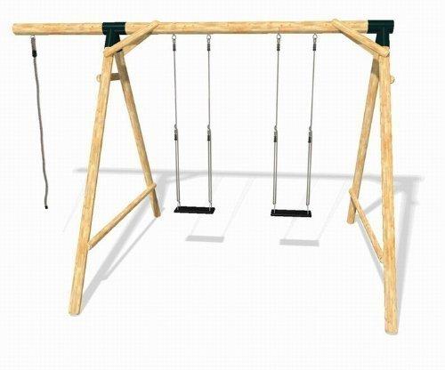 loggyland 9133 holz schaukel set bounce aus l rche douglasie h he spielzeug online. Black Bedroom Furniture Sets. Home Design Ideas