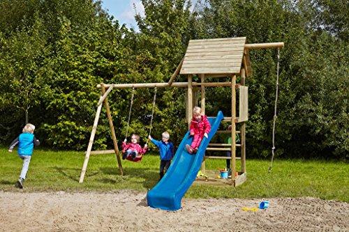 dein spielplatz kinderspielturm schaukel sandkasten kletterseil obelix t v s d gepr ft. Black Bedroom Furniture Sets. Home Design Ideas