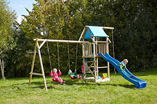 dein spielplatz spielturm doppelschaukel sandkasten kletterseil asterix xl t v s d gepr ft. Black Bedroom Furniture Sets. Home Design Ideas