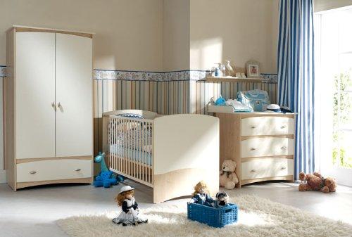 babyzimmer kinderzimmer cappuccino babym bel set 4 teilig komplett schrank 2 t rig babybett. Black Bedroom Furniture Sets. Home Design Ideas