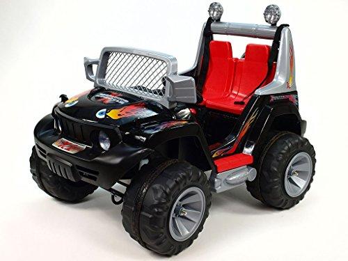 elektroauto kinderfahrzeug suv jeep schwarz kinderauto. Black Bedroom Furniture Sets. Home Design Ideas