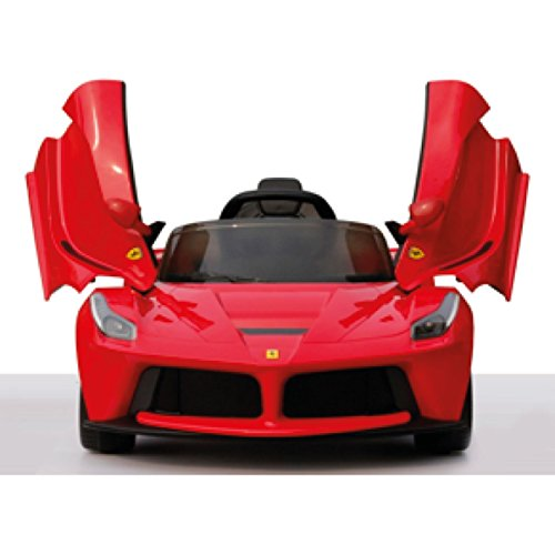ferrari laferrari rot mit fl gelt ren kinderauto. Black Bedroom Furniture Sets. Home Design Ideas